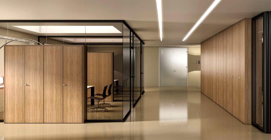 Battistoni mobili per ufficio scaffalature metalliche for Pareti per ufficio